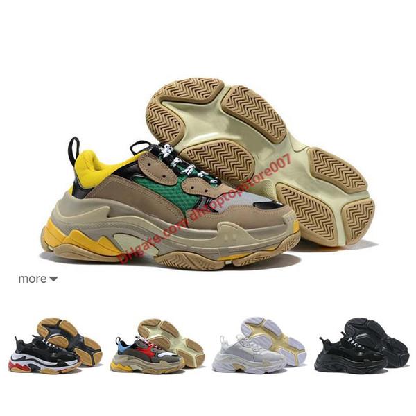 2019 Designer Shoes Fashion Paris 17FW Triple S Sneaker Luxury Casual Dad Shoes for Men's Women Black pink white Sports Size 36-45