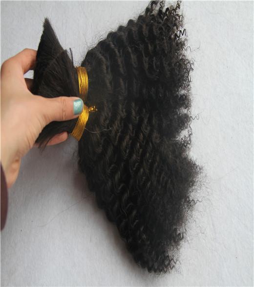 Черный цвет 6а необработанные курчавые вьющиеся волосы 10-30 дюймов человеческих волос 100% бразильские наращивание волос