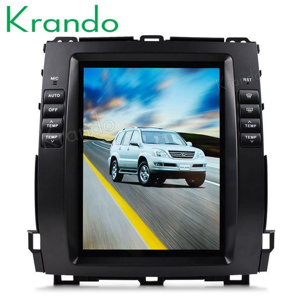 "Krando Android 7.1 10.4"" Vertical car dvd audio system for TOYOTA PRADO 120 2002-2009 Lexus GX470 gps multimedia playstore"