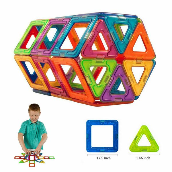 50Pcs All Magnetic Building Educational Children Toys Blocks Construction Model(smaller size),free shipping!