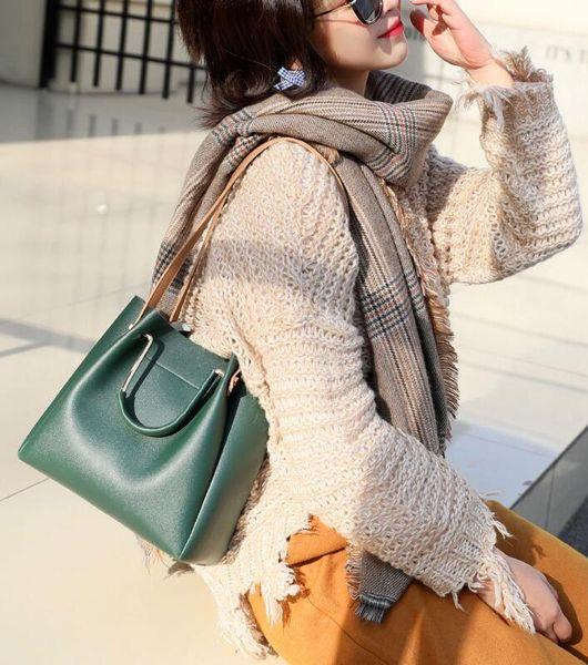 2019 nouvelle marée de seau de sac femelle version coréenne de la simple dames sauvages Messenger sac sac à bandoulière sac à main en gros