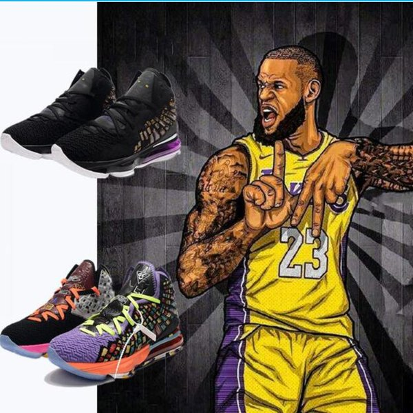 top popular 2019 new shoes LeBron XVII 17 Shoes Mens Women Athletic 16s Wolf Grey lebron 17 Basketball shoe 2020