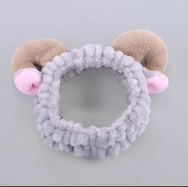 Wash hair and women Korean hair female department head hoop cute contracted adult mask headband horn shape
