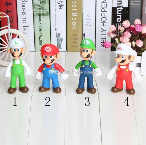 Супер Марио фигура Луиджи Фигурки Игрушки Кукла Стенд Плюшевые Куклы Супер Марио Bros Плюшевые Игрушки 12 см