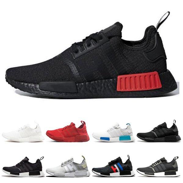 adidas nmd R1 Chegada nova nmd R1 Japão triplo branco preto homens running shoes raça Og creme camo mens formadores mulheres esporte tênis tamanho 36-45