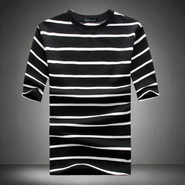 2019 New T Shirt Men Summer Spring Hot Sale Line Design Funny T-shirt Homme Quality Loose Hip Hop Short Sleeve Mens Tee Shirt