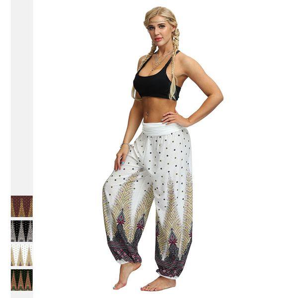 Women's Wide Leg Boho Yoga Harem Pants Sport Comfy Indian Thailand Bohemian Palazzo Pants