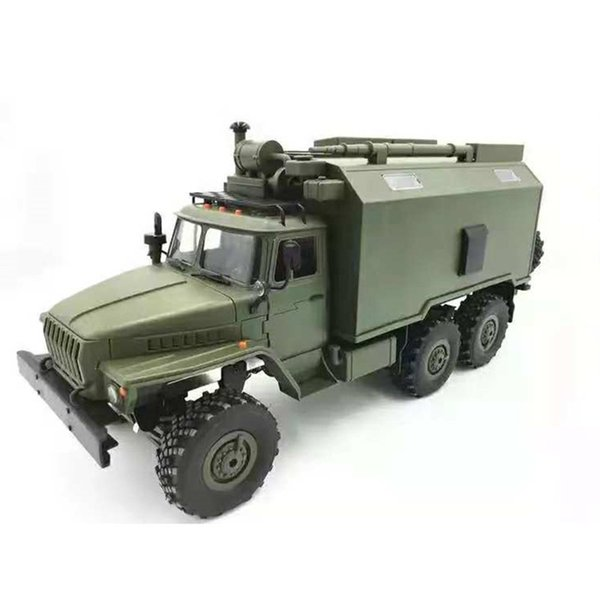 B36 Ural 1/16 2.4G 6WD RC Car Military Truck Rock Crawler Command Communication Vehicle RTR Toy Auto Army Trucks for BOYS Gift
