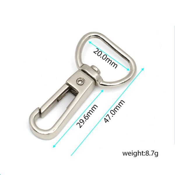 50pcs/lot Solid Brass Trigger Swivel Eye Bolt Snap Hook For webbing Leather Craft Bag Strap Belt Hook Clasp Pet Dog Leash Clip