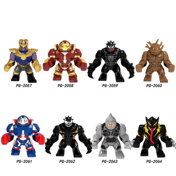 Big Size Thanos Hulkbuster Building Blocks Super Heroes Venom Groot Bricks Figures For Children Collection Toys PG8241111