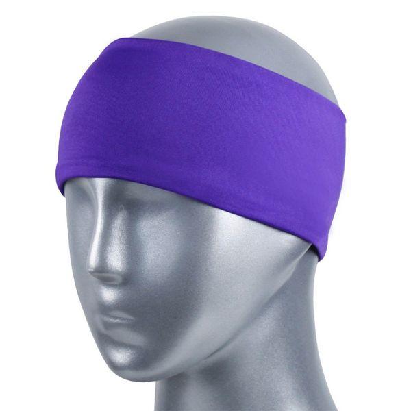 Yoga Schweißband Frauen Männer Spandex Polyester Atmungsaktives elastisches Stirnband Laufen Sportswear Zubehör