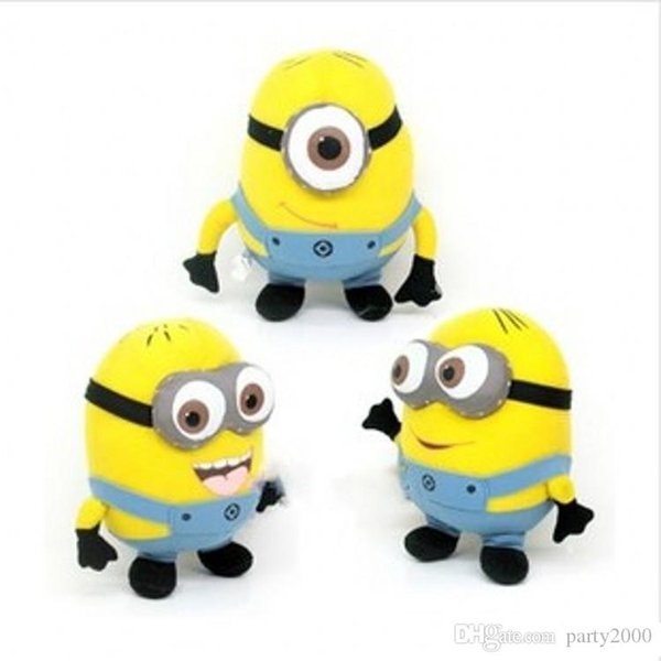 best selling Despicable ME Movie Plush Toy 25cm Minion Jorge Stewart Dave Minions 3D eyes plush toys with tags free shipping Free Delivery