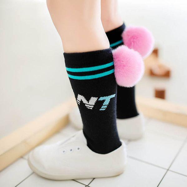 Children Socks Casual kids sock cotton girls Knit Knee High Socks student Athletic boys Sock kids designer clothes children clothing A5727