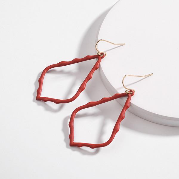 7 Colors Kendra Style Scott Earrings Hollow Teardrop Metal Alloy Water Drop Dangle Earrings Painting Charms Earings Jewelry