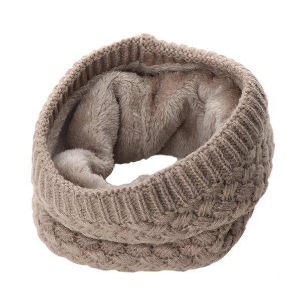 Hohe Qualität 1 Stück Frauen Mode Winter Warmer Schal Unendlichkeit Kabel Gestrickte Hals Haube Dame Mädchen Kragen Kreis Samt Dicken Schals