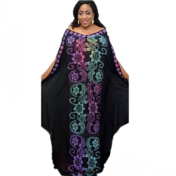 African Dresses for Women Dashiki Diamond African Clothes Bazin Broder Riche Sexy Slim Robe Evening Long Dress