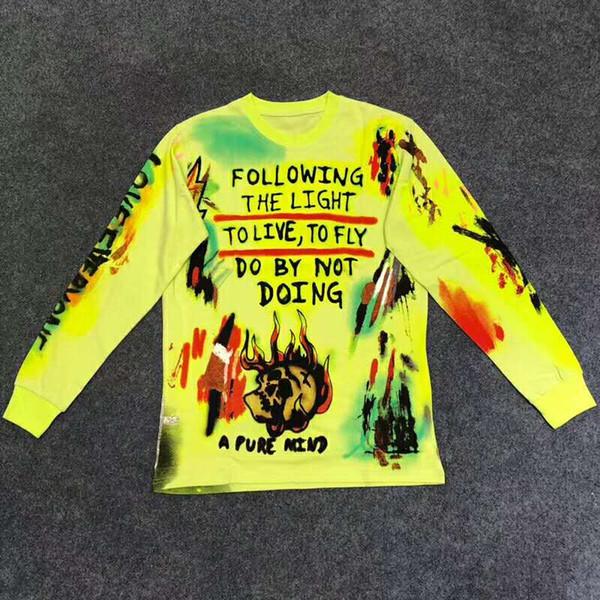 Kanye West Season 6 Wyoming Esqueleto Pulóver Sudadera NUEVO HIP HOP Hombres Mujeres Alta Calidad Streetwear Magpie Streetwear Sudaderas Con Capucha