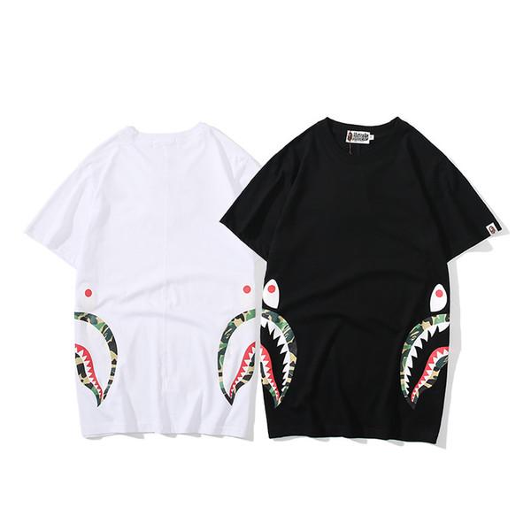 Новые мужские одежды мужские летние бренд футболка с коротким рукавом печатных рубашка повседневная тройники размер S-2XL