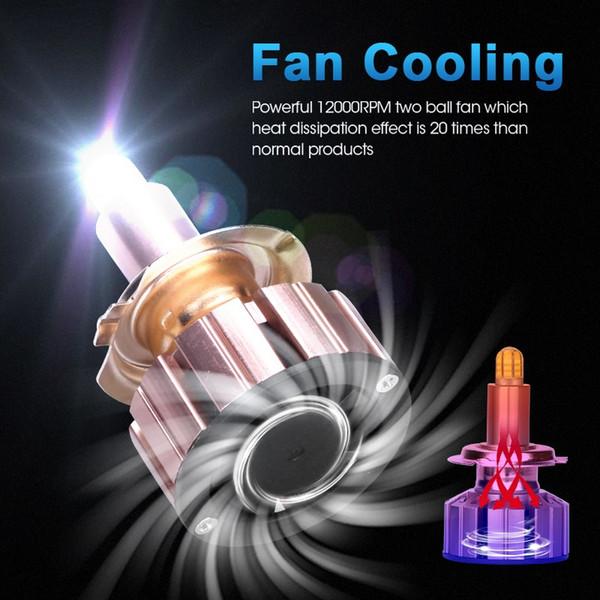 3D H7 LED 360 gradi h11 auto led lampadine auto faro 9012 HIR2 5202 H1 H3 mini accessori dimensioni per auto 15000 LM NO zona cieca