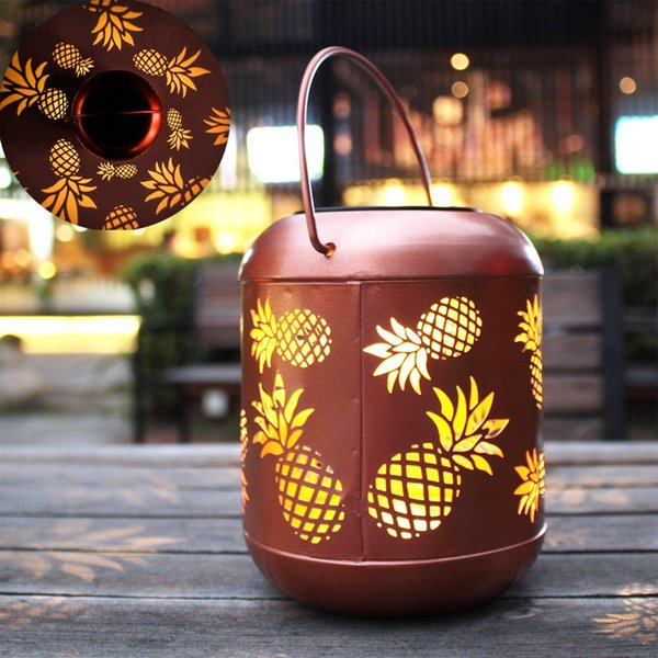 timeless design b4621 7b79e 2019 Hanging Solar Lights Pineapple Decorative Outdoor Solar Lanterns With  Handle Lamp For Garden,Yard, Patio,Lawn From Ohmygift, $15.07 | DHgate.Com