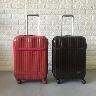 19 inch Export Janpan Open Front Pocket Luggage Case Travel Suitcase Spinner Wheels Carry-Ons business boarding case