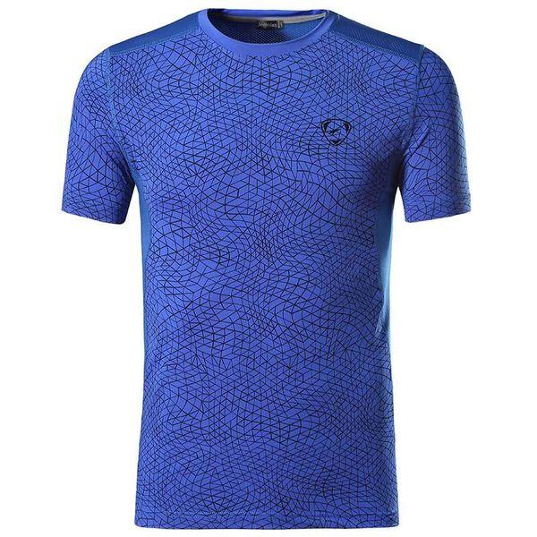 jeansian Hommes Sport Tee Shirt Tshirt T-shirt À Manches Courtes Dry Fit Running Fitness Gym Workout LSL185 Bleu