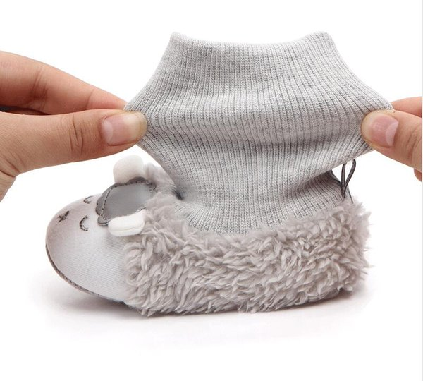 WarmGG kış yeni sıcak kaymaz bebek yürümeye başlayan ayakkabı sevimli koyun küçük botlar toptan ayakkabı toddler ayakkabı