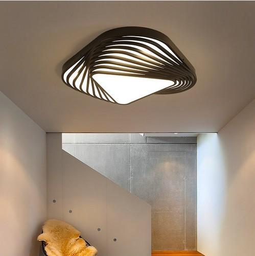 2019 New Design Modern Ceiling Light Diy Triangle Led Bedroom Ceiling Lamp Nordic Living Room Lampara Home Indoor Use Llfa From Nimiled 272 09