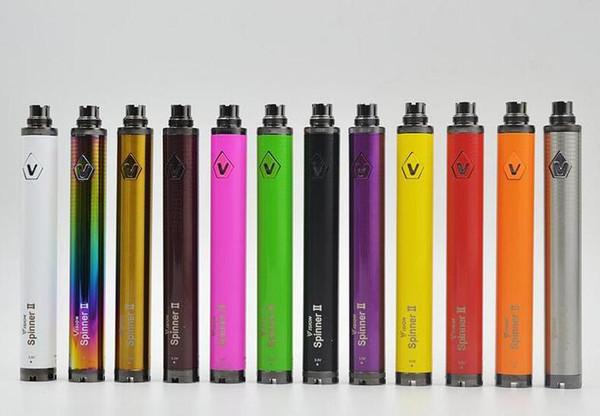 Vision Spinner II 2 Twist Batterie 1600mAh Capacité VV Mini 0.1V Tension E Cigarette Vape Pen Ego Evod 510 fil