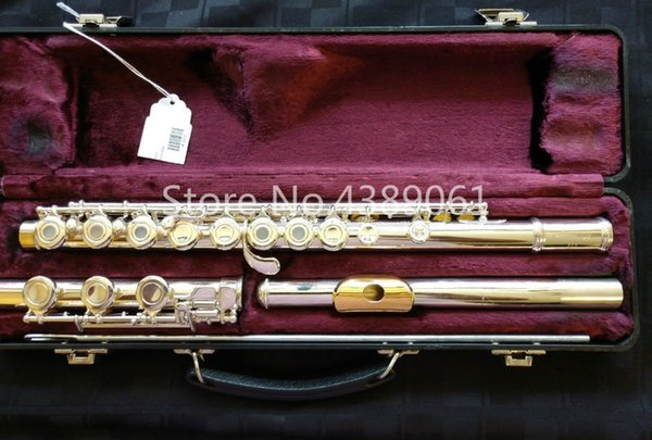 ARMSTRONG 303 C Tune Flute 17 Holes Opening Flute Cupronickel Silver Plated Surface Gold Lip Plate Musical Instrument Flute Free Shipping
