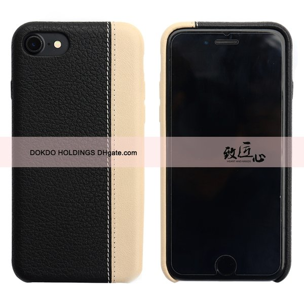 DOKDO Brand New Super Slim Splicing leather Phone Case Protect Cover Shockproof Soft Backcover For Samsung note 9 S9 Plus iPhone 8 case