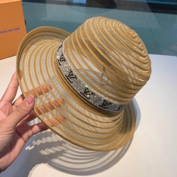 2019 Style Designer De Luxe Maille Snapback Haute Quhality Femmes Casquettes De Baseball Hip Hop Os Modèle De Mode Large Bord Chapeau