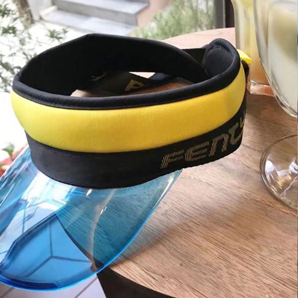 Lüks Güneşlik Kap Sunvisor Şapka Plaj UV Koruma Güneş şapka Bisiklet Şeffaf Açık DHL Kargo Caps