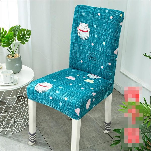 Home Restaurant Hotel Stretch Dining Table Chair Set Concise Chair Set Simple Cover Fabric Wholesale for Living Room