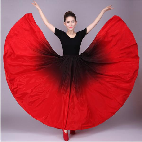 720 Цыганская юбка живота Танец живота с рюшами Фламенко Юбка Новые танцы Большие юбки Танцевальный костюм фламинго B-6832