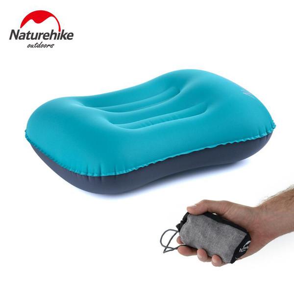 Naturehike Inflável Travesseiro de Viagem Barraca de Acampamento Tenda Encosto de Cabeça Ao Ar Livre Camping Caminhadas Mochila Ciclismo Descanso Equipamento Essencial
