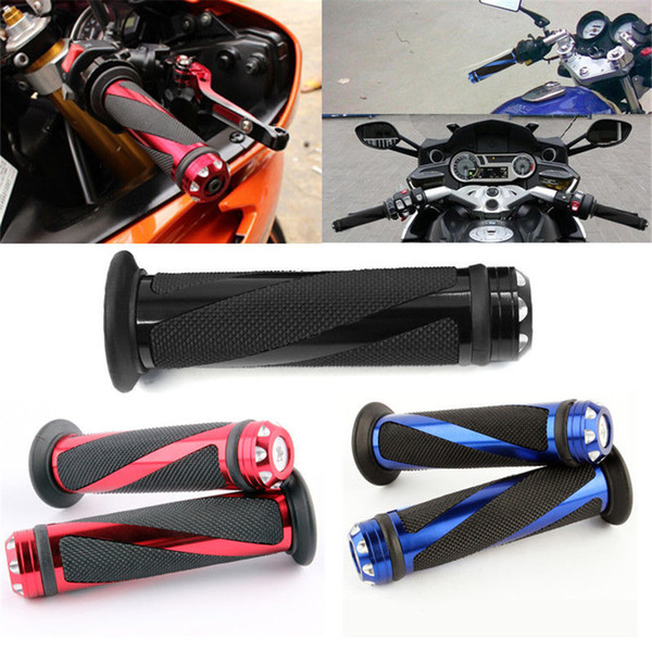 "top popular 1 Pair Motorcycle 7 8"" Hand Grips Handle Bar Gel For YAMAHA R1 R6 HONDA CBR600RR 2021"