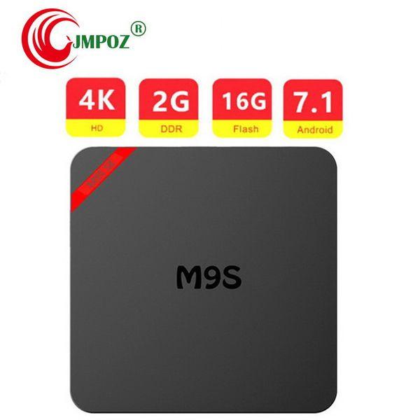Original M9S SE Android 7.1 TV BOX Amlogic S905W Quad Core WIFI 4K 3D H.265 OTT IPTV Smart Set-top TV Boxes Better X96 TX3 Mini