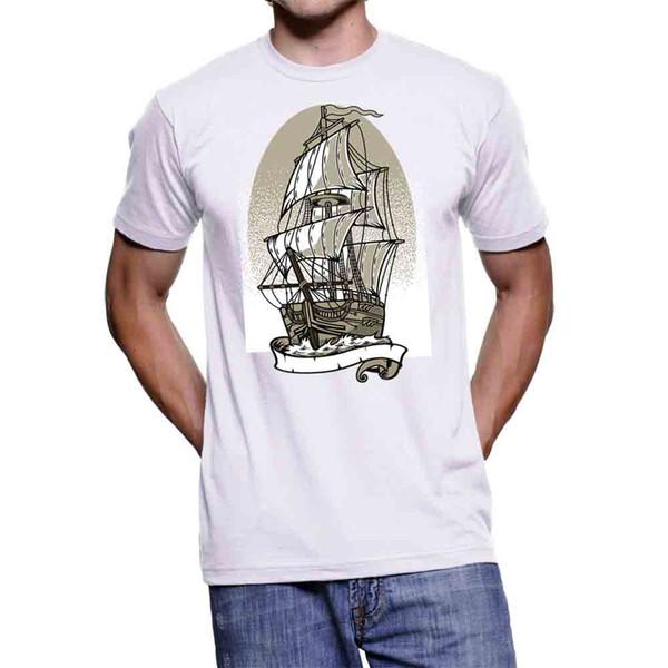 2019 nueva moda verano nuevo diseño algodón camiseta para hombre diseño camiseta hombre nave tatuaje único camisetas