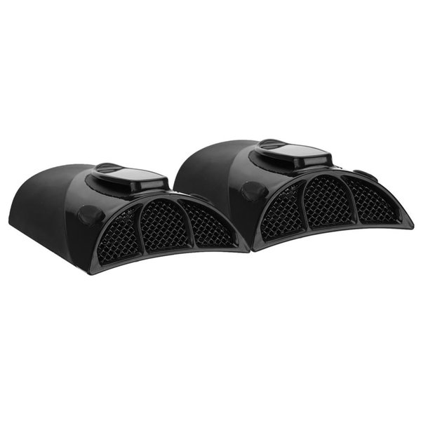1 Pair Universal Motorcycle Cycling Jacket Vents Heat Dissipation Ventilation Kit Black for ATV motorcycle bicycle riding