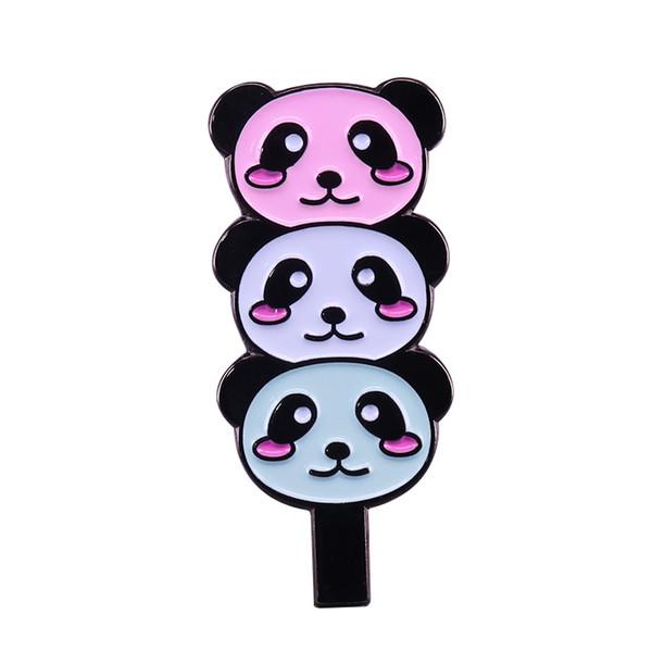 Panda bunch enamel pin cute forest animal brooch gift for panda lovers kids
