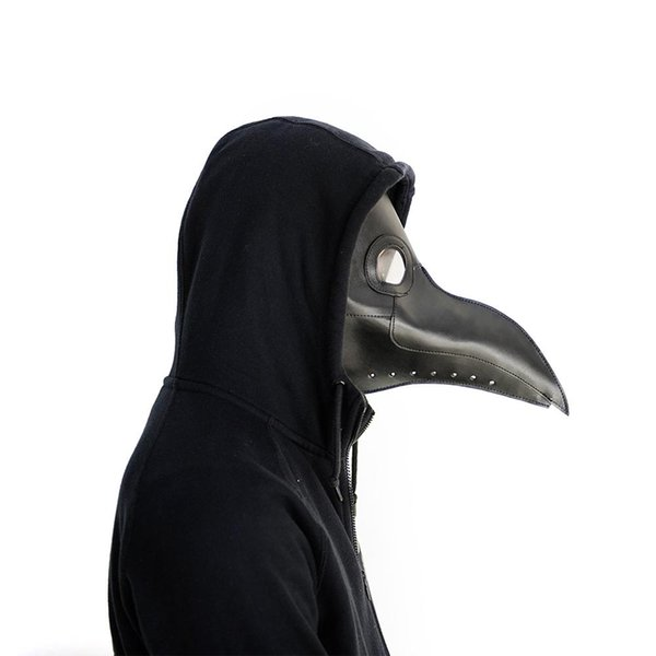 Plague Doctors Mask PU Leather Clear Resin Lenses Beaked Face Masks for Halloween Steampunk Costume Party Caribbean Animals Masks