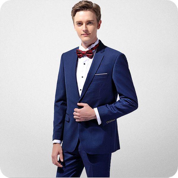 Latest Coat Pant Designs Navy Blue Men Suits for Wedding Groom Tuxedo Best Man Blazer Jacket Notchde Lapel 2Piece Slim Fit Costume Homme