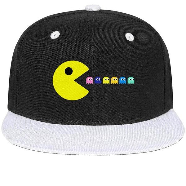 Pac-Man Tech That Eats HIV Like Eats Ghosts Unisex Mens Hat Womens Caps Retro Cotton Snapback Flatbrim Running Hat Ball Cap for Women