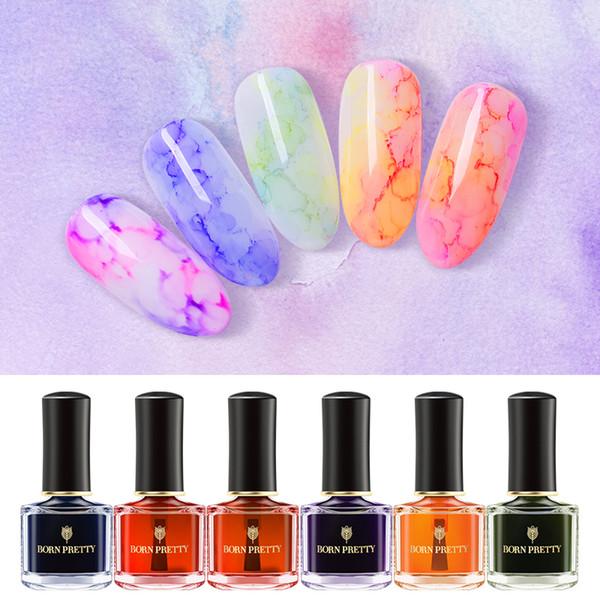 РОДИЛСЯ ДОВОЛЬНО Польского 6ml многоцветного Nail Art Design Blossom Маникюр Лак салон красота BORN ДОВОЛЬНО Блоссом Лак для ногтей 6ml