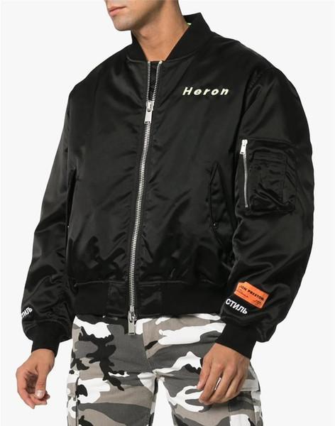 El diseñador de moda Garza Preston chaquetas Negro collar del soporte de la manga larga para hombre de invierno de los abrigos para hombre Outwear con Zipper42