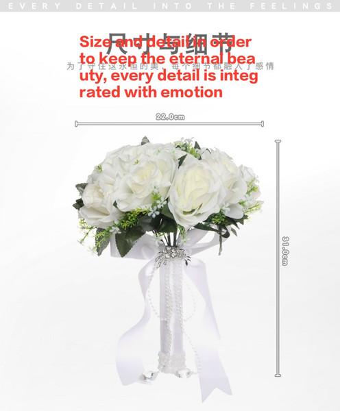 Купить со скидкой Новая свадьба Роза моделирование цветы Европейский и американский украшения дома свадьба Белая невес