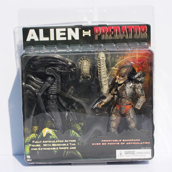 Neca Alien Vs Predator Tru Exclusive 2-pack Pvc Action Figure To Y Free Shipping J190719