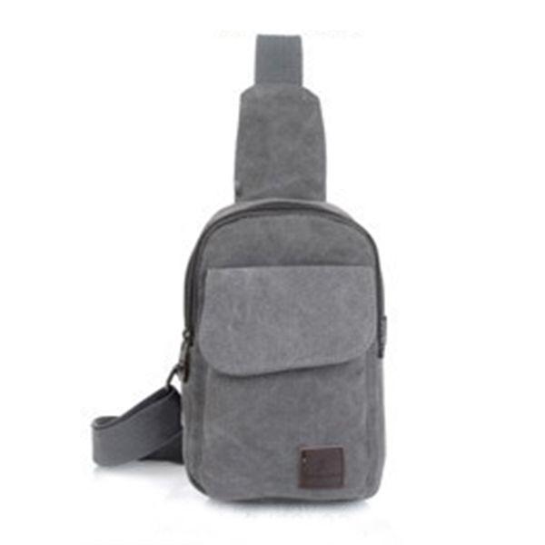 Outdoor Sports Small Running Bag Men Women Canvas Sling Messenger Chest Bag Solid Backpack Shoulder Travel Bags #2