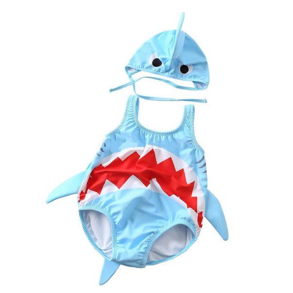 New Infant shark designer baby boy girl kids One Piece Bikini swimwear summer Girl swimsuit Beach Bikini sets fast shipping
